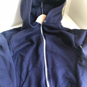 American Apparel zip-up hooded sweatshirt